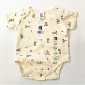 NWT Baby Gap Bear Print Bodysuit